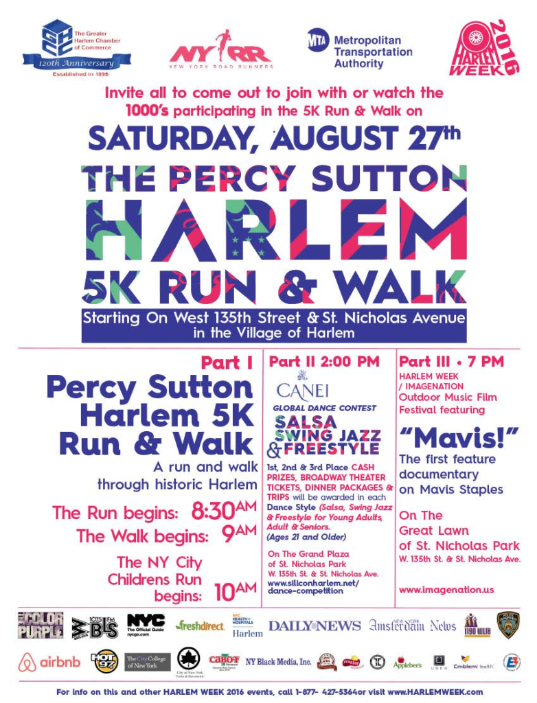 Harlem Week Ad for August 27th